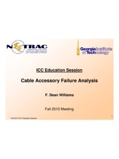 Cable Accessory Failure Analysis - NEETRAC