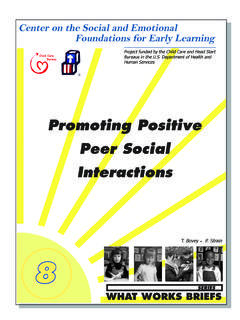 Promoting Positive Peer Social Interactions