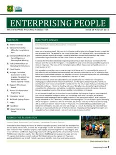 Enterprising People Newsletter - fs.fed.us