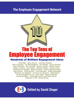 The Top Tens of Employee Engagement - David Zinger