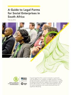 A Guide to Legal Forms for Social Enterprises in South Africa
