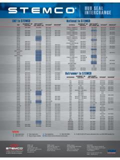 Oil Bath Seals Interchange Listing Stemco National Oil Bath Seals Interchange Listing Stemco National Pdf Pdf4pro