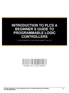 INTRODUCTION TO PLCS A BEGINNER S GUIDE TO …