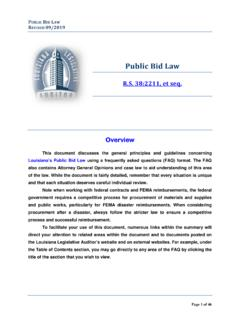 The Legislative Auditor's Summary of the