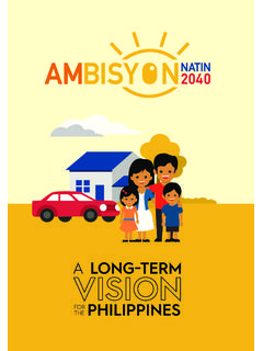 A LONG˜TERM FOR THE PHILIPPINES - AmBisyon Natin 2040