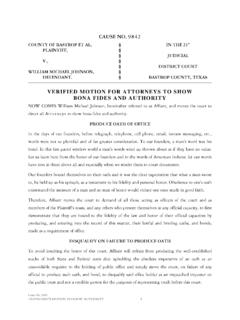 Motion to Show Authority - Freedom School