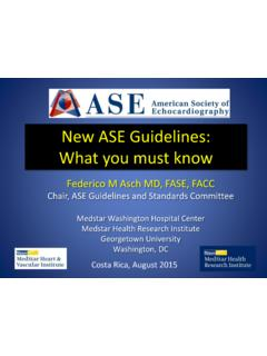 New ASE Guidelines: What you must know