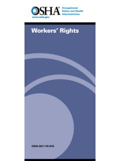 Workers' Rights - osha.gov