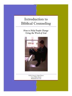 Introduction to Biblical Counseling - Clover Sites