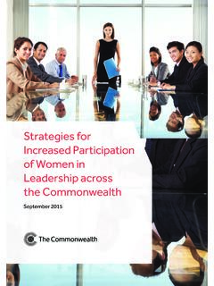 Strategies for Increased Participation of Women in ...