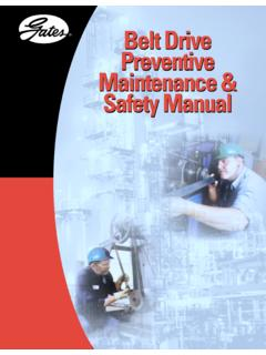 Belt Drive Preventive Maintenance & Safety Manual