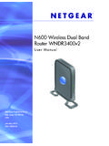 N600 Wireless Dual Band Router WNDR3400v2 …
