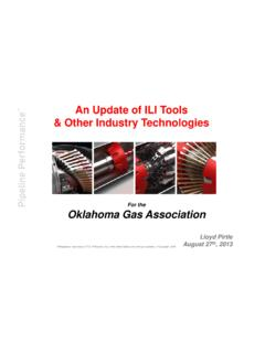 An Update of ILI Tools & Other Industry Technologies