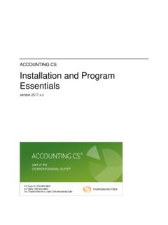 Accounting CS Installation and Program Essentials