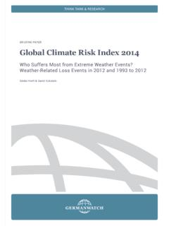 Global Climate Risk Index 2014 - Germanwatch