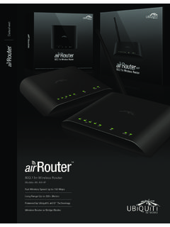 802.11n Wireless Router - Ubiquiti Networks