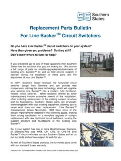Replacement Parts Bulletin - Southern States, LLC