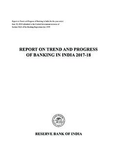 REPORT ON TREND AND PROGRESS OF BANKING IN INDIA …