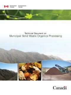 Technical Document on Municipal Solid Waste Organics ...