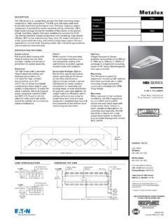 Metalux HBI High Bay Industrial, 4 or 5 T8 lamp spec sheet