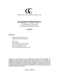 Systematic Global Macro - Welcome To Graham Capital …