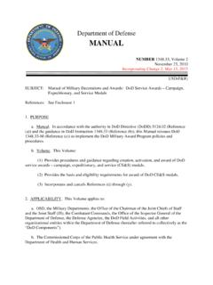 Department of Defense MANUAL - With Military …