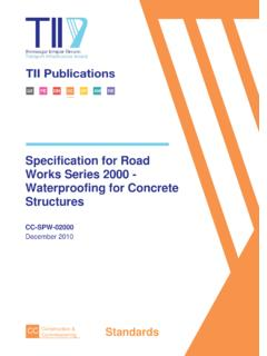 Specification for Road Works Series 2000 - Waterproofing ...