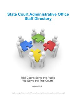 State Court Administrative Office Staff Directory