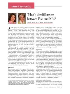 What's the difference between PAs and NPs?