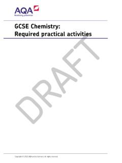GCSE Chemistry Required practical activities Practicals