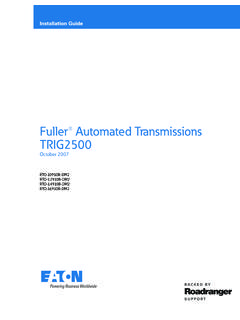 Fuller® Automated Transmissions TRIG2500