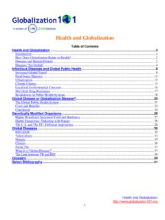 Health and Globalization