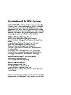 Recent actions of the 111th Congress - ultimatervcamping.com