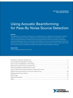 Using Acoustic Beamforming for Pass-By Noise …