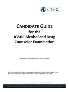 for the IC&RC Alcohol and Drug Counselor Examination