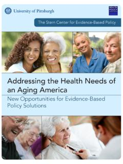 Addressing the Health Needs of an Aging America