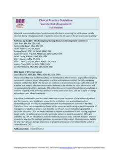 Clinical Practice Guideline: Suicide Risk Assessment