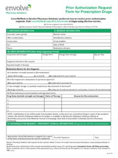 Prior Authorization Request Form for Prescription Drugs
