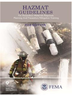 Guidelines for Hazardous and Prevention/Mitigation Training