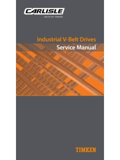 Industrial V-Belt Drives Service Manual - driveengineer.com