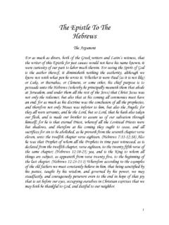 The Epistle To The Hebrews - GENEVA BIBLE 1599