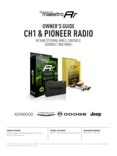 OWNER'S GUIDE CH1 & PIONEER RADIO - Amazon S3