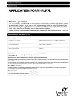 CONFIDENTIAL APPLICATION FORM (RLP8)