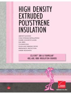 High Density Extruded Polystyrene Insulation - Owens …