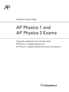 AP Physics 1 and 2 Exam Questions - College Board