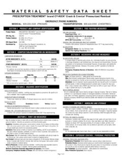 MATERIAL SAFETY DATA SHEET - Bell Environmental