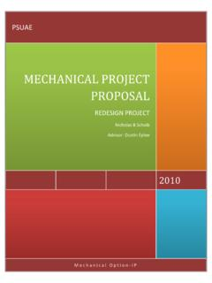 MECHANICAL PROJECT PROPOSAL - Penn State College of ...