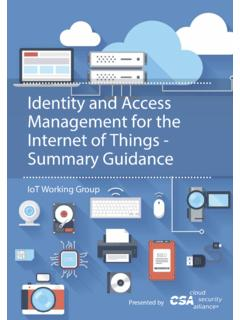 Identity and Access Management for the Internet of Things ...