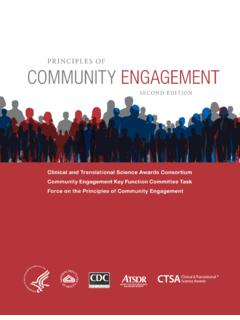 Principles of Community Engagement (Second Edition)