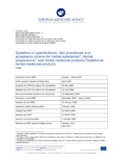 Guideline on specifications: test procedures and ...
